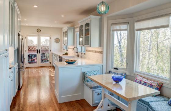 Blue Green Nook to Kitchen