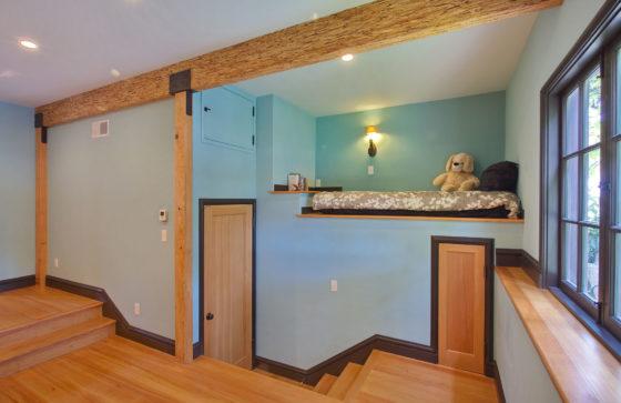 Carved Room loft bed