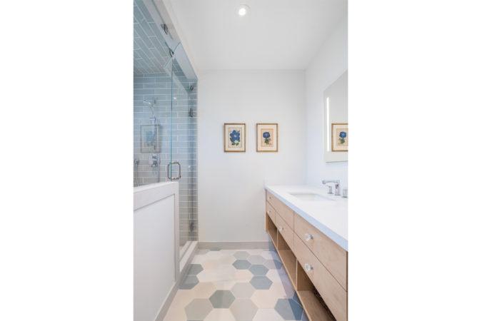 Serene Bathroom with steam shower