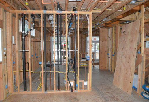 Warm Modern main floor construction